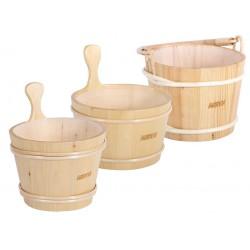 Dřevěné vědro do sauny s vložkou 4l