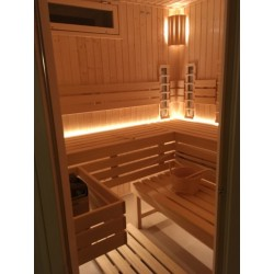 Kombinovaná sauna - finská sauna s infrazářiči