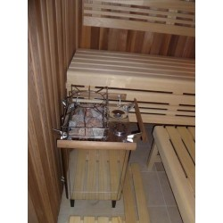 Kombinovaná sauna - finská sauna s kamny   s vyvíječem páry