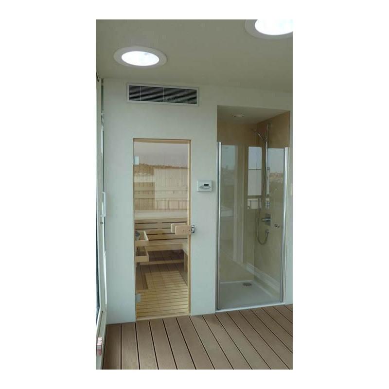 Finská vestavěná sauna